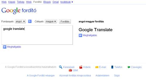 Google fordító