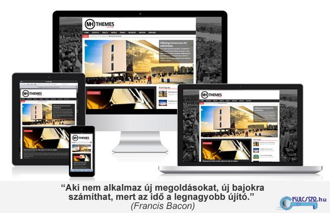 mobil responziv weboldal készítése wordpress-el