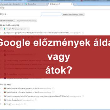 Google előzmények