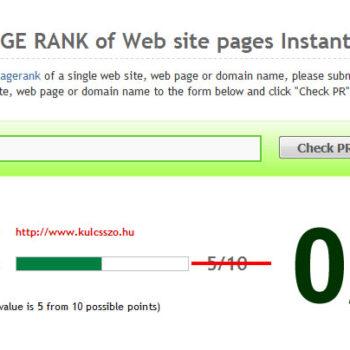 Eltűnt a PageRank érték