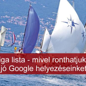 Jó Google helyezés