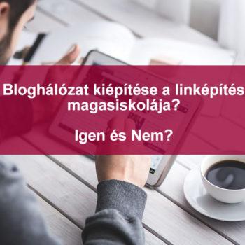 bloghálózat építése