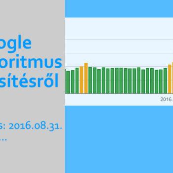 Google algoritmus frissítés 2016 augusztus 31 óta
