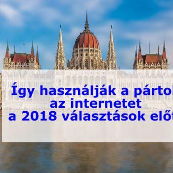 pártok az interneten a 2018-s választások előtt