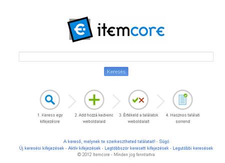 ItemCore magyar webes kereső