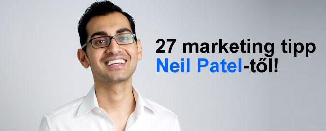 27 marketing tipp Neil Patel-től