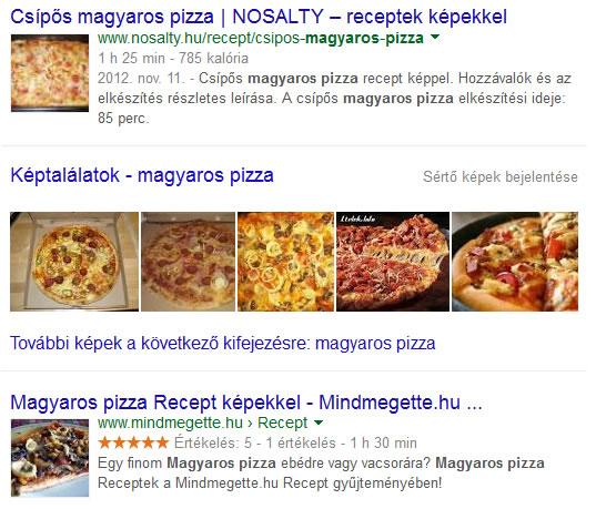 képek a google találati listájában