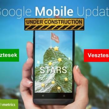 Google mobilegeddon győztesek és vesztesek