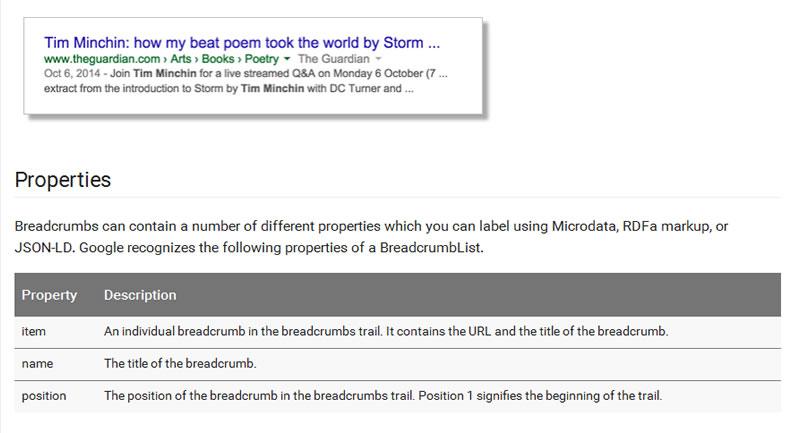 Google új RDF breadcumbs javaslata