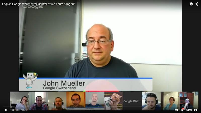 John Mueller Google plus Hangout a valós idejű Pingvin algoritmusról