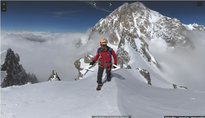 Google kamerái a Mont Blanc-on