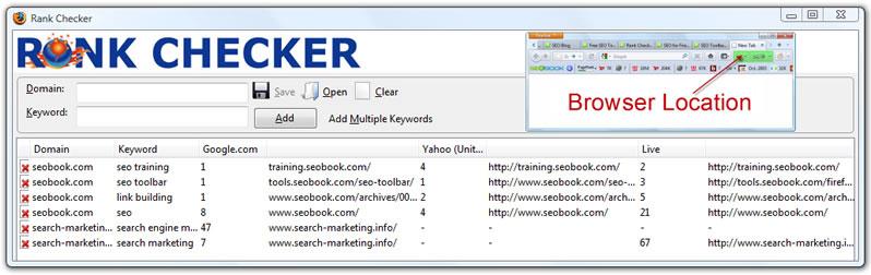 Firefox Rank Checker - seobook.com