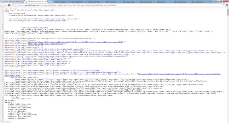 HTML forrás kód és a keresőoptimalizálás kapcsolata