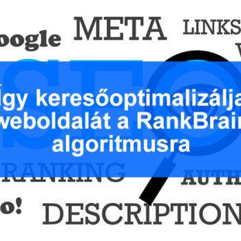RankBrain keresőoptimalizálás 2016-ban