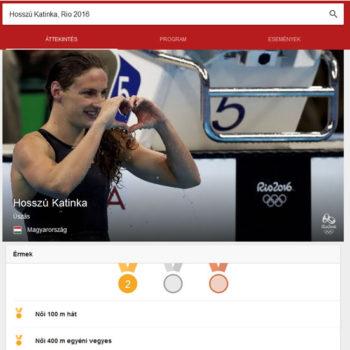 Google trükkök a 2016 olimpiával kapcsolat