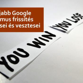 Google algoritmus frissítés nyertesei és vesztesei