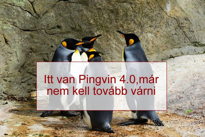 Google pingvin 4.0 algoritmus változatát 2016.09.23. el indították
