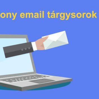 Hatékony email tárgysorok