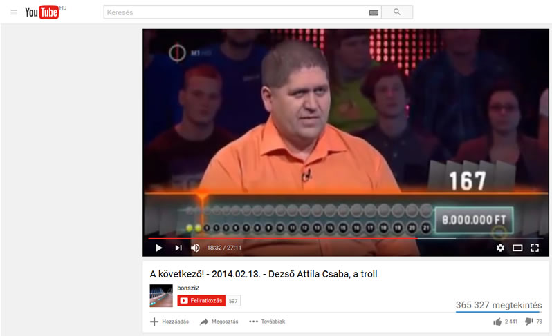 Youtube kereső