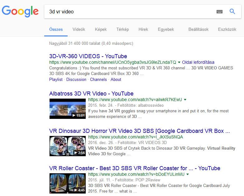 3d VR tartalom keresőoptimalizálása