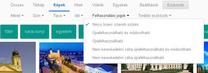 Google képkereső eszközök