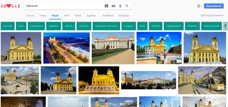 Google képkereső - Debrecen kulcsszóra