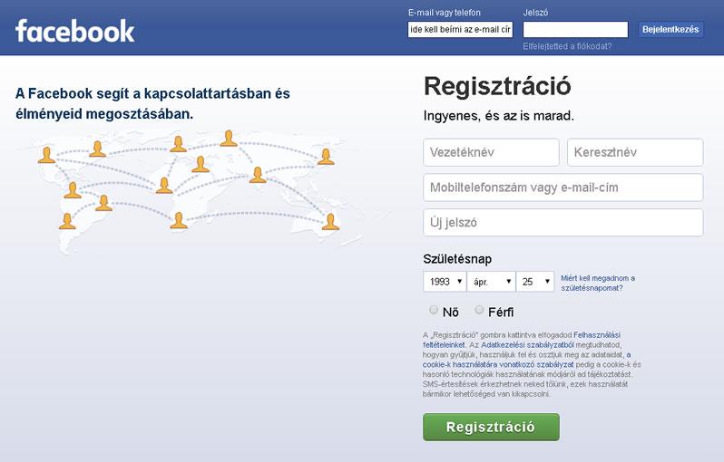 M Facebook Bejelentkezés