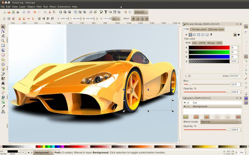 Ferrari az Inkscape-ben