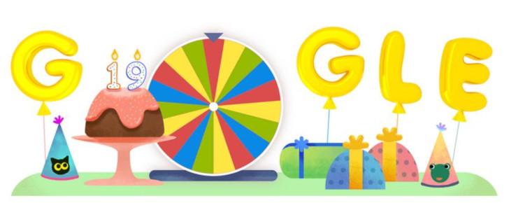 Google születésnapi szerencsekerék