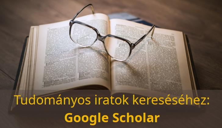 Tudományos iratok kereséséhez: Google Scholar