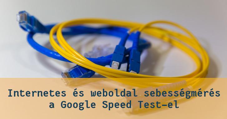 Google Speed Test sebességmérés