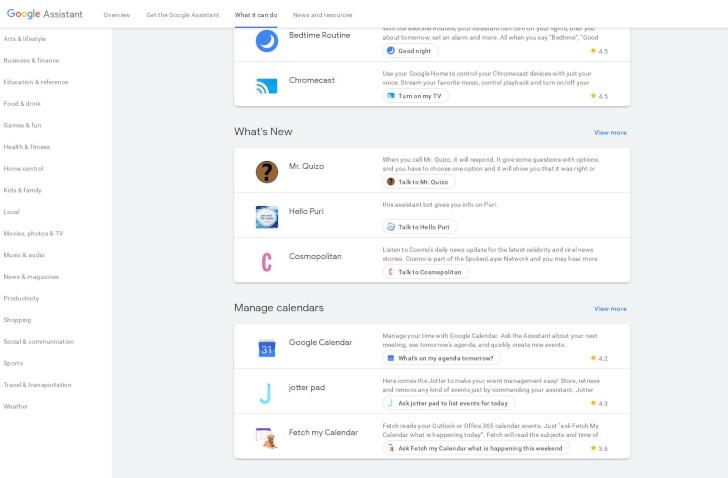 Google Aszisztens programok